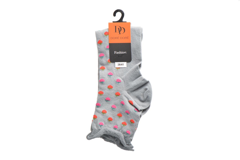 Chaussettes et collants Doré Doré Chaussettes Socquettes Fraises Gris vue derrière