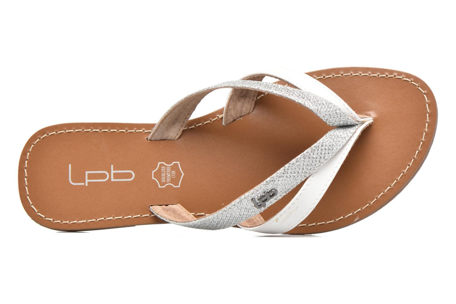 Flip flops Les P'tites Bombes Kalinda F Silver view from the left