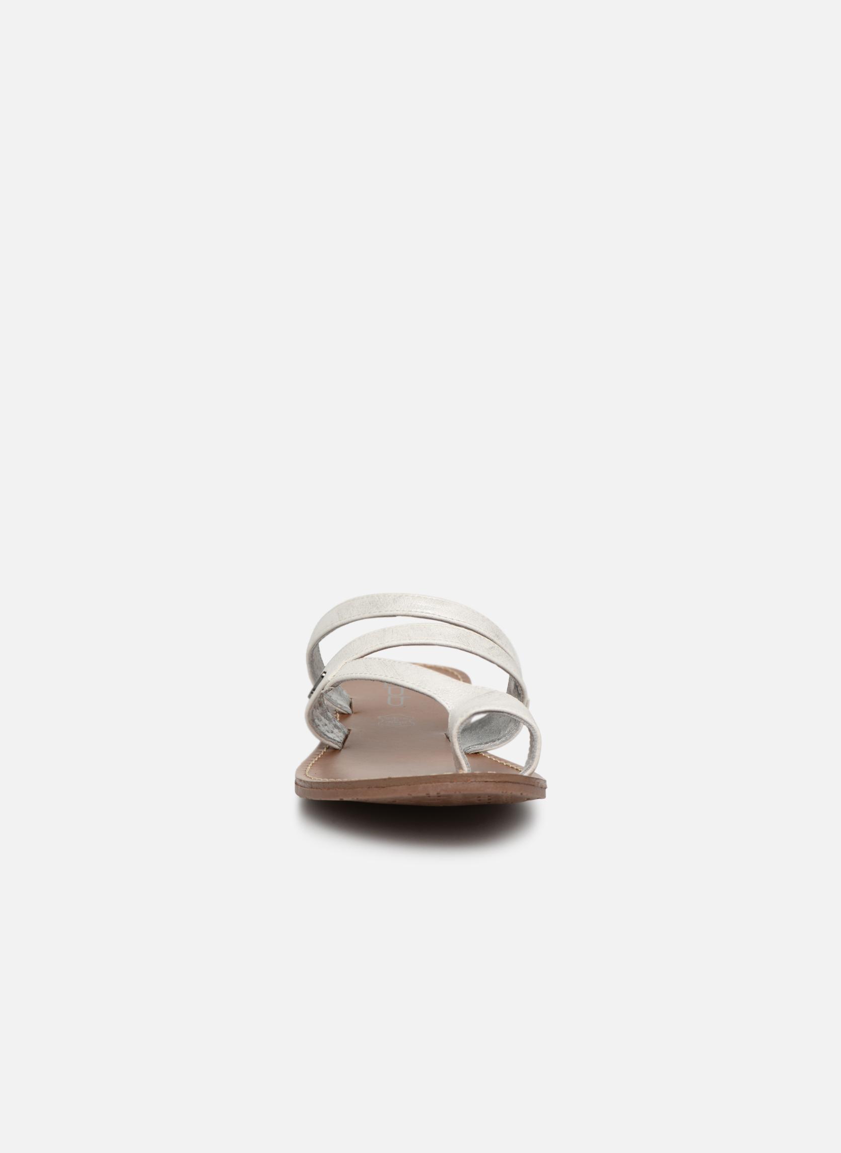 Sandales et nu-pieds Les P'tites Bombes Texane Argent vue portées chaussures