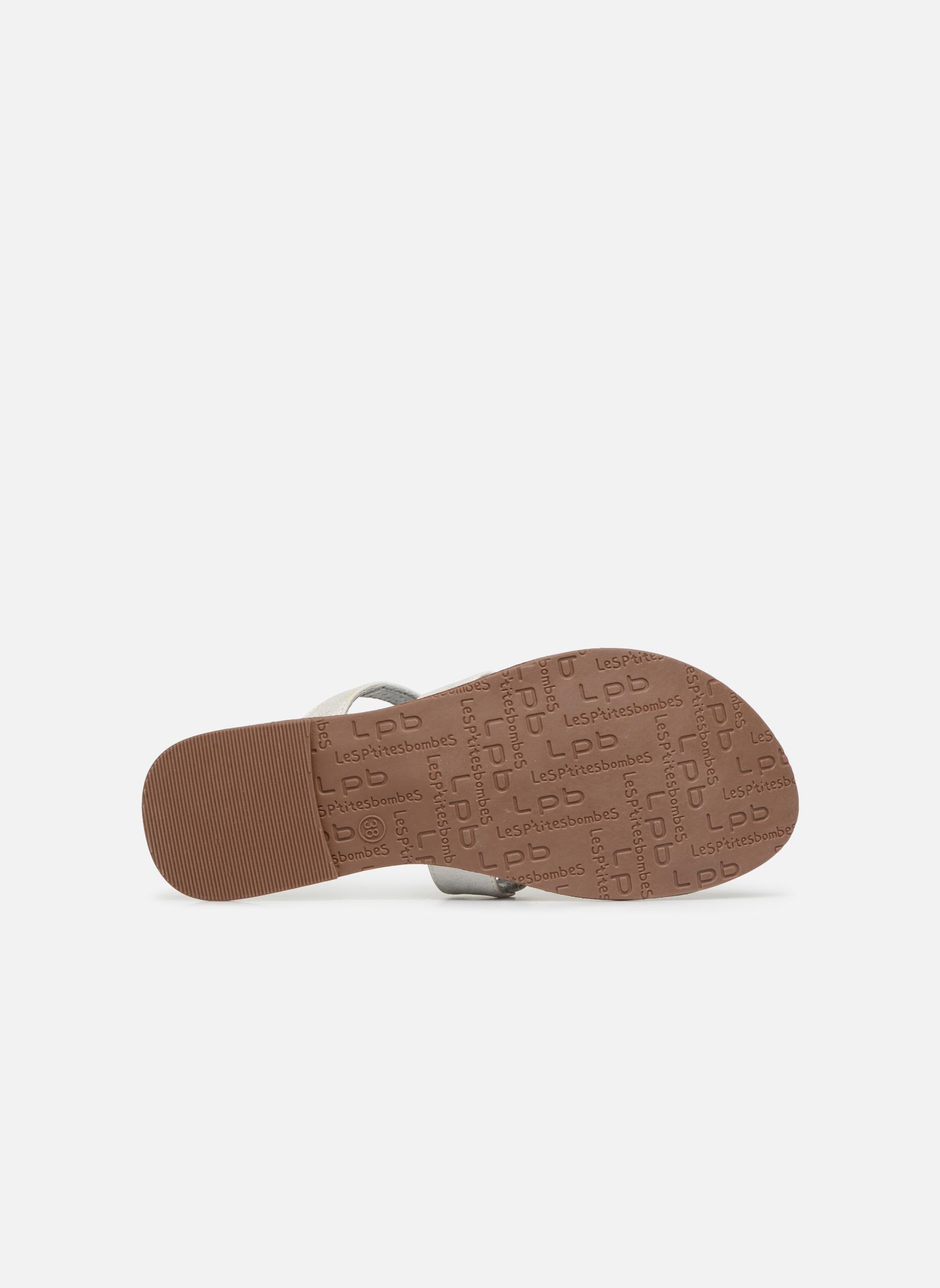 Sandales et nu-pieds Les P'tites Bombes Texane Argent vue haut