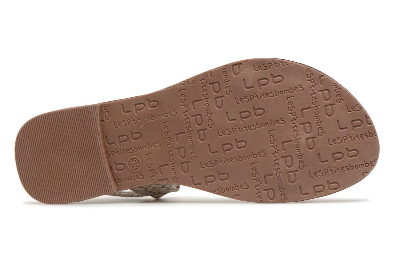 Sandales et nu-pieds Les P'tites Bombes Zhoe F Beige vue haut