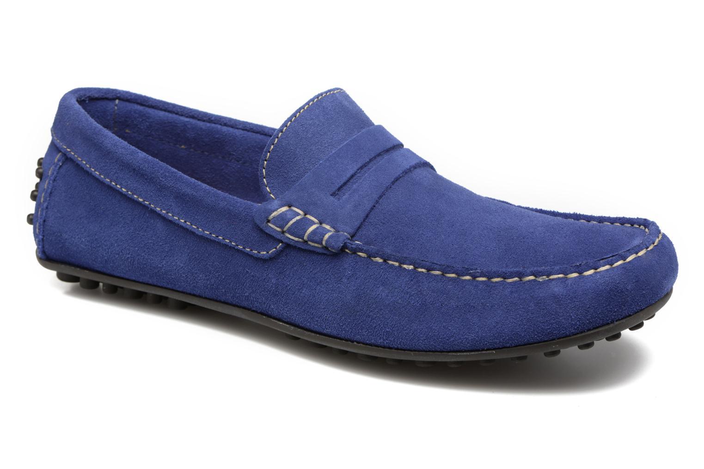 Mocassins Marvin&Co Slough Bleu vue détail/paire