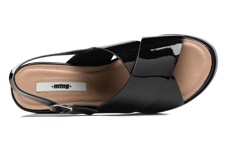 Sandales et nu-pieds MTNG Plexy 55413 Noir vue gauche