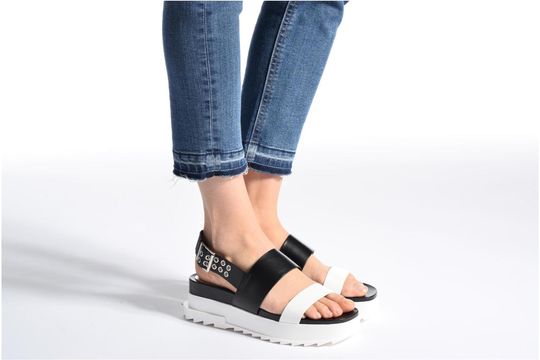 Sandals Diesel D-Yeletta WS Black view from underneath / model view