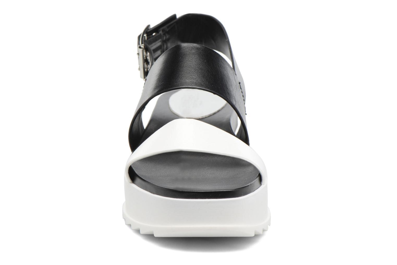 Sandalen Diesel D-Yeletta WS schwarz schuhe getragen