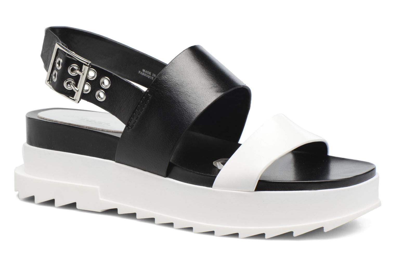 Sandals Diesel D-Yeletta WS Black detailed view/ Pair view