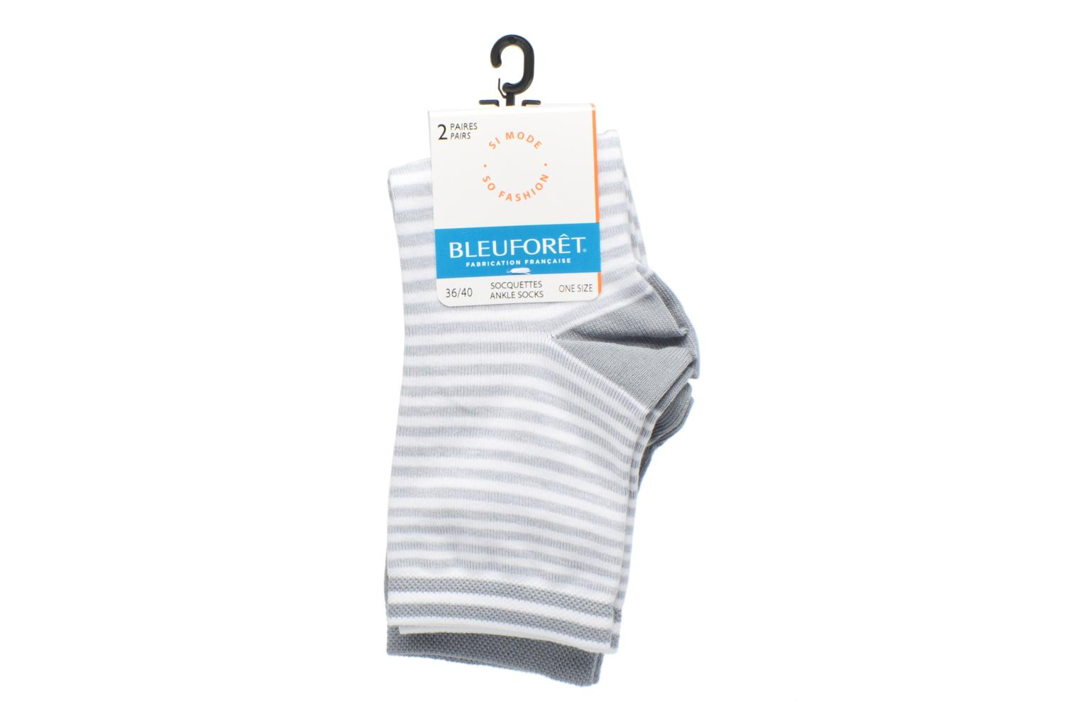 DUO SOCQUETTES RAYURES Gris-Gris