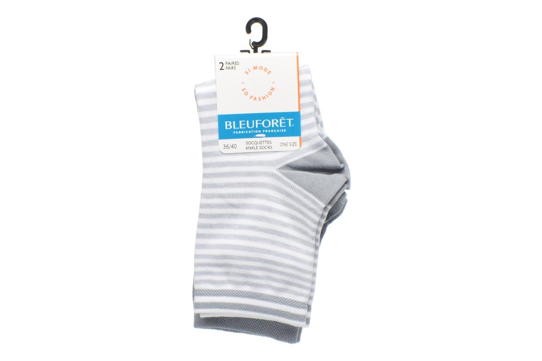 Socken & Strumpfhosen BLEUFORÊT DUO SOCQUETTES RAYURES grau ansicht von hinten