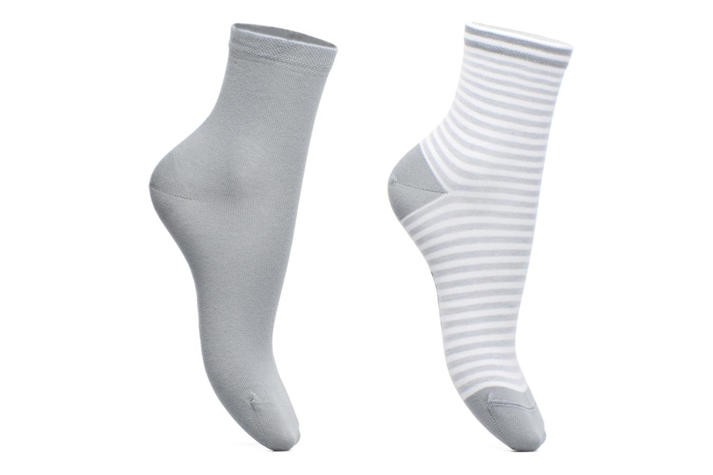 Socken & Strumpfhosen BLEUFORÊT DUO SOCQUETTES RAYURES grau ansicht von links