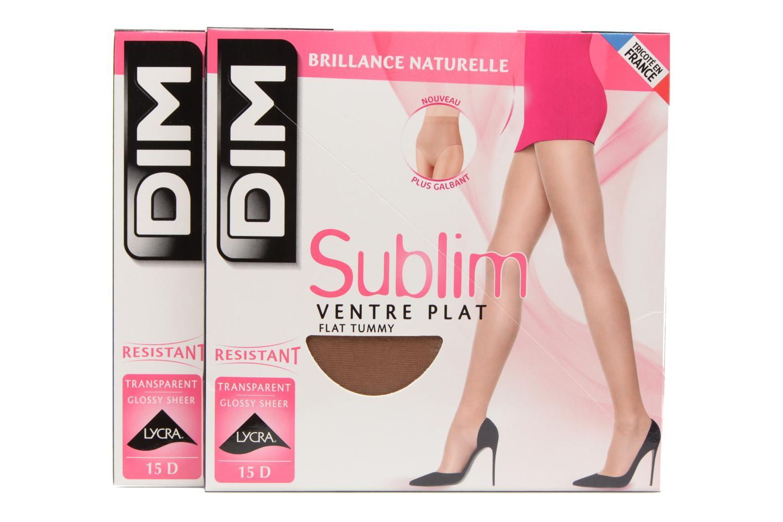 Chaussettes et collants Dim Collants Sublim Ventre Plat pack de 2 Beige vue détail/paire