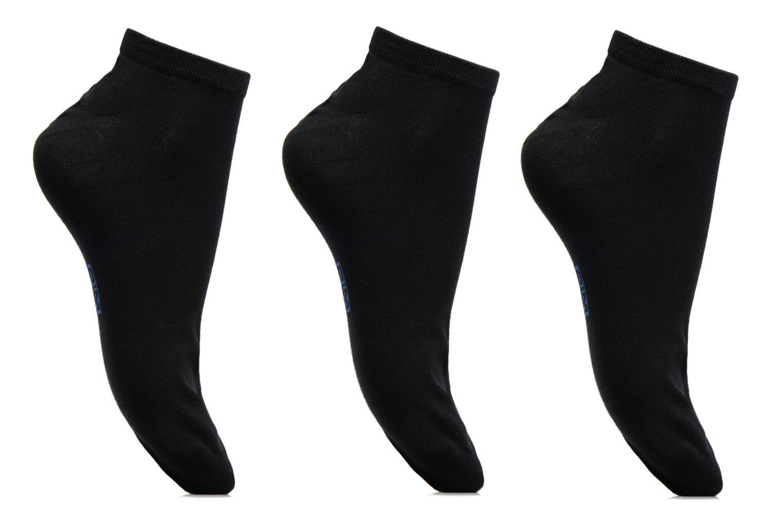 Chaussettes et collants Dim Invisible Classique Coton Pack de 3 Noir vue détail/paire