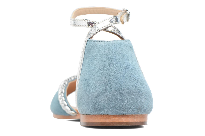 Sandales et nu-pieds Petite mendigote Trefle Bleu vue droite