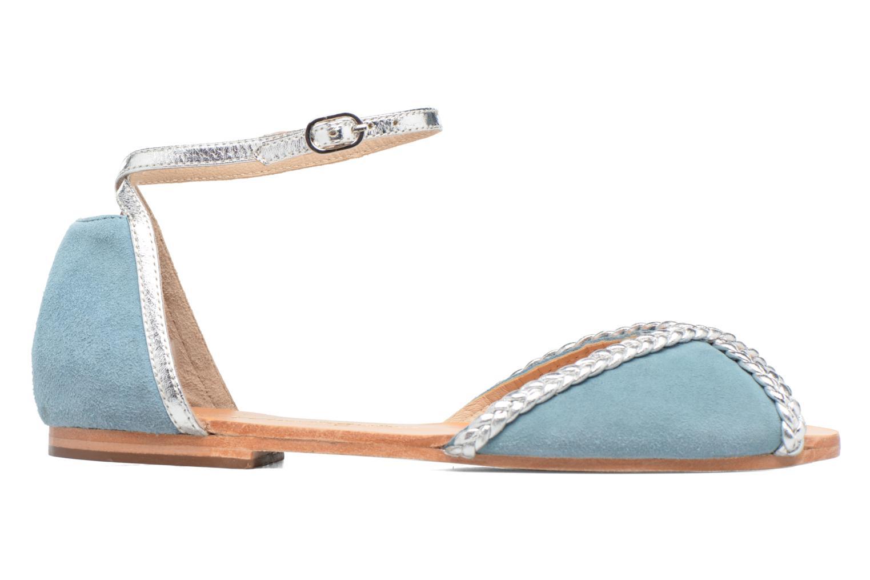 Sandales et nu-pieds Petite mendigote Trefle Bleu vue derrière