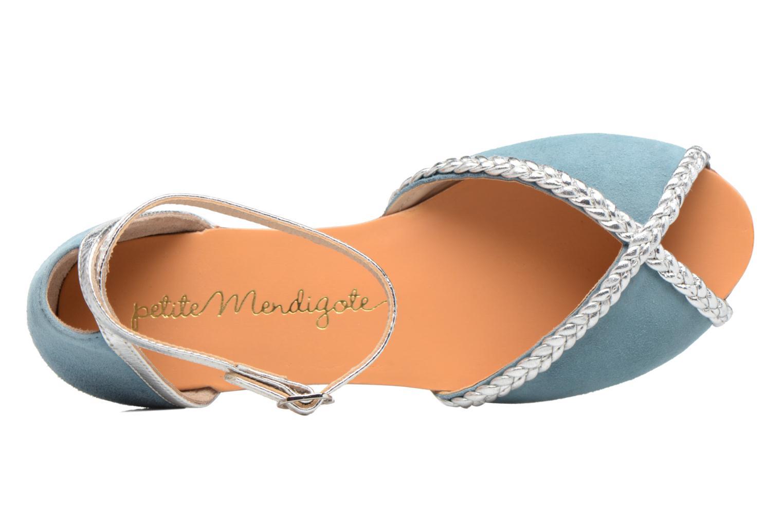 Sandalen Petite mendigote Trefle Blauw links
