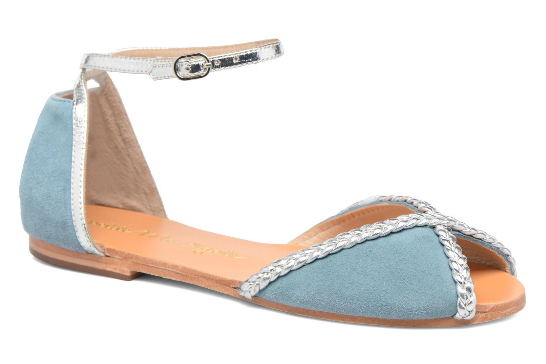 Sandales et nu-pieds Petite mendigote Trefle Bleu vue détail/paire