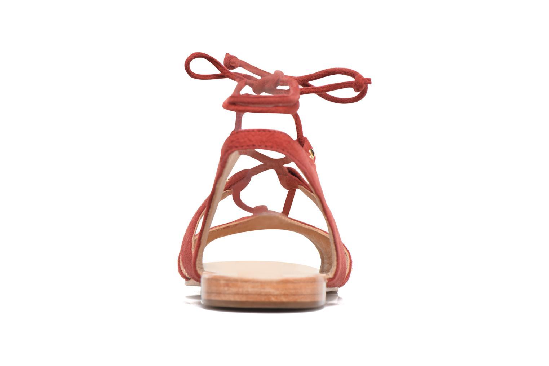 Sandales et nu-pieds Petite mendigote Osier Rouge vue droite