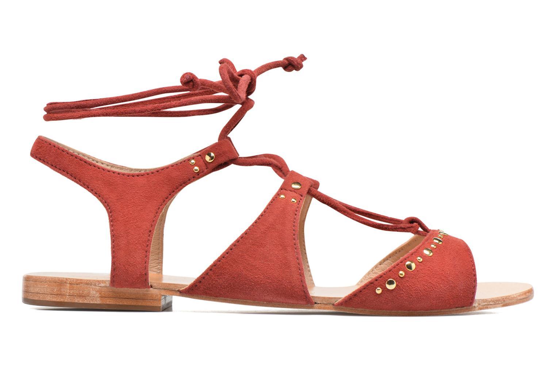 Sandales et nu-pieds Petite mendigote Osier Rouge vue derrière