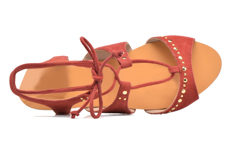 Sandales et nu-pieds Petite mendigote Osier Rouge vue gauche