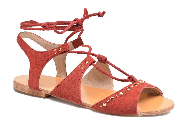 Sandales et nu-pieds Petite mendigote Osier Rouge vue détail/paire