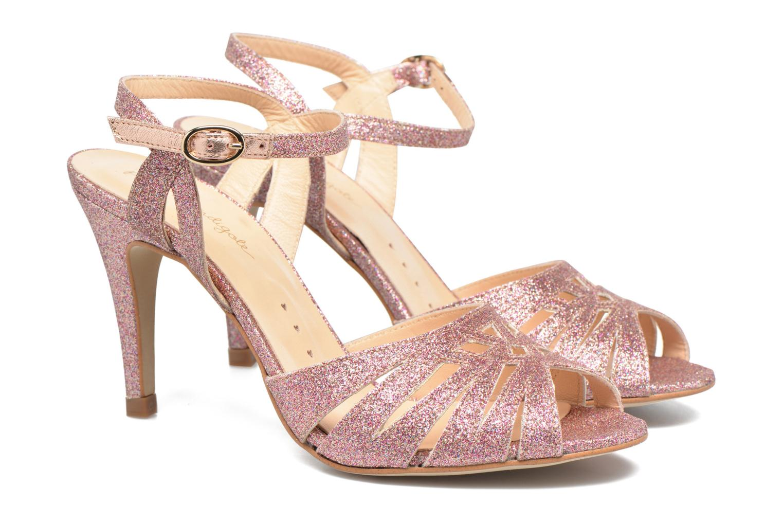 Sandals Petite mendigote Hibiscus Pink 3/4 view