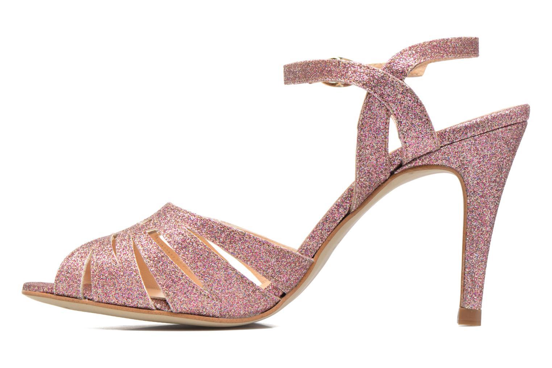 Sandali e scarpe aperte Petite mendigote Hibiscus Rosa immagine frontale
