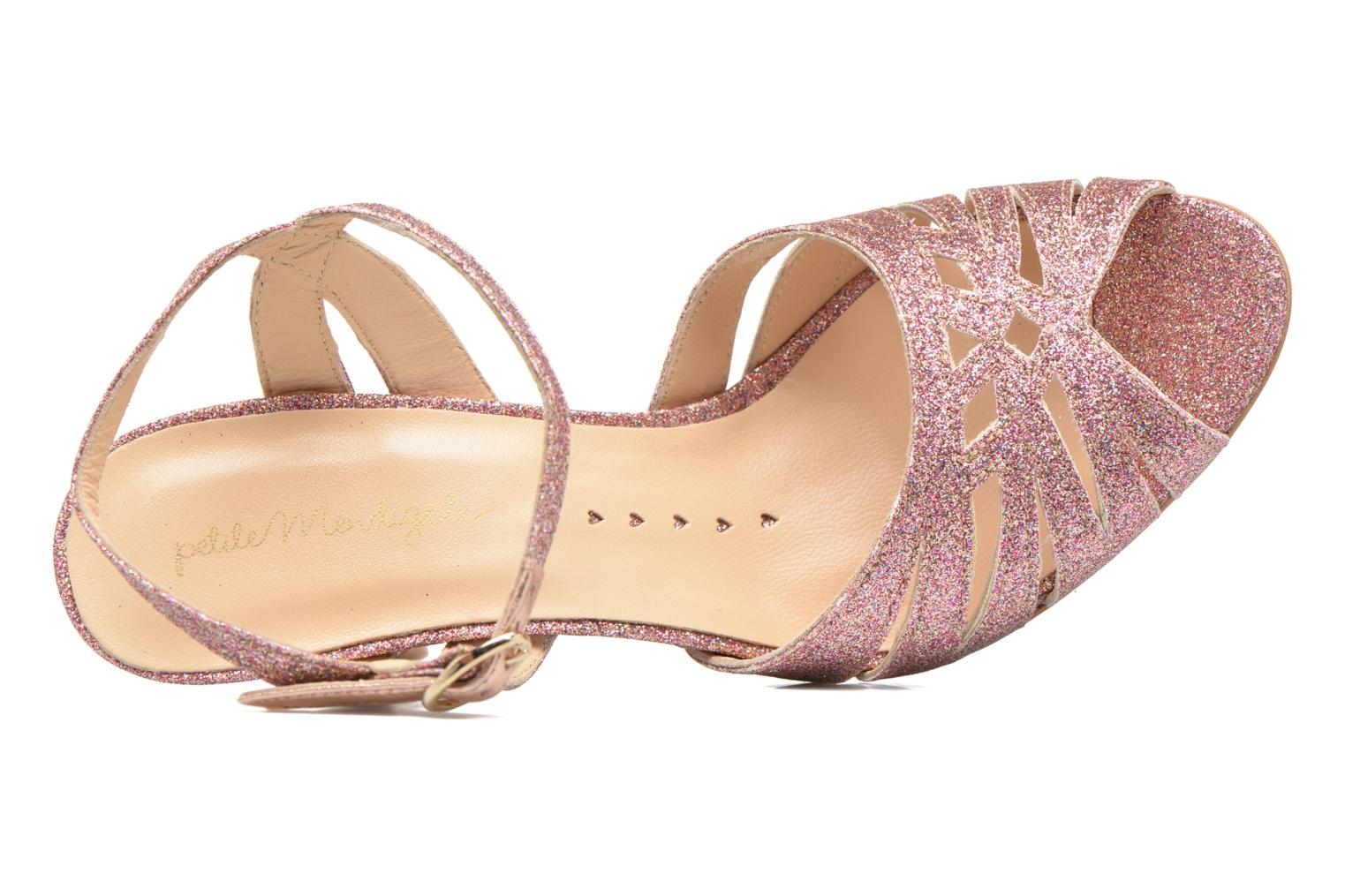 Sandals Petite mendigote Hibiscus Pink view from the left