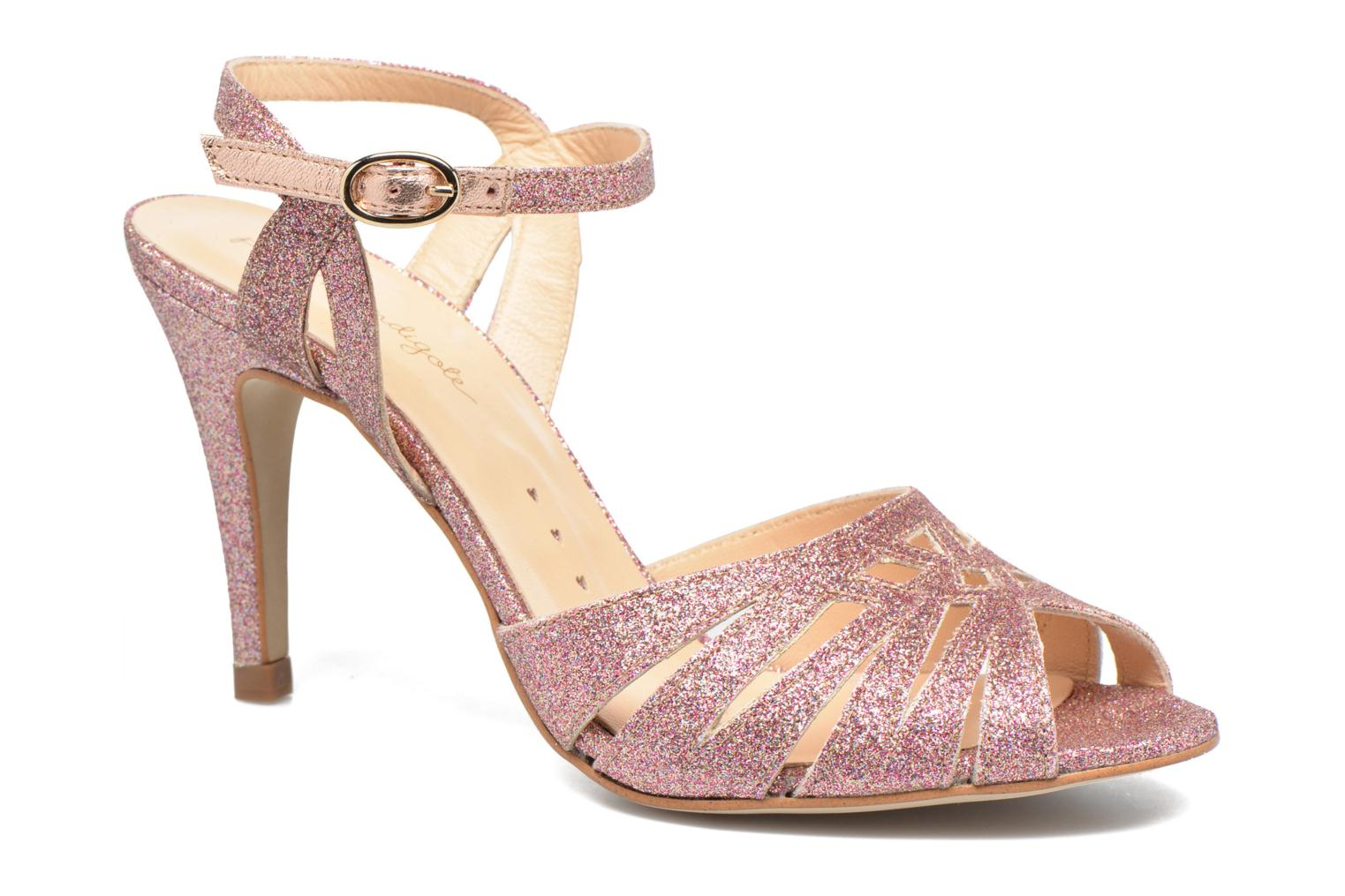 Sandals Petite mendigote Hibiscus Pink detailed view/ Pair view