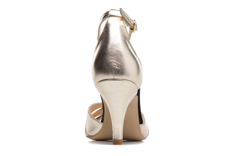 Sandales et nu-pieds Petite mendigote Charme Or et bronze vue droite