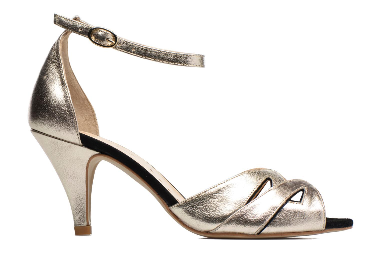 Sandales et nu-pieds Petite mendigote Charme Or et bronze vue derrière