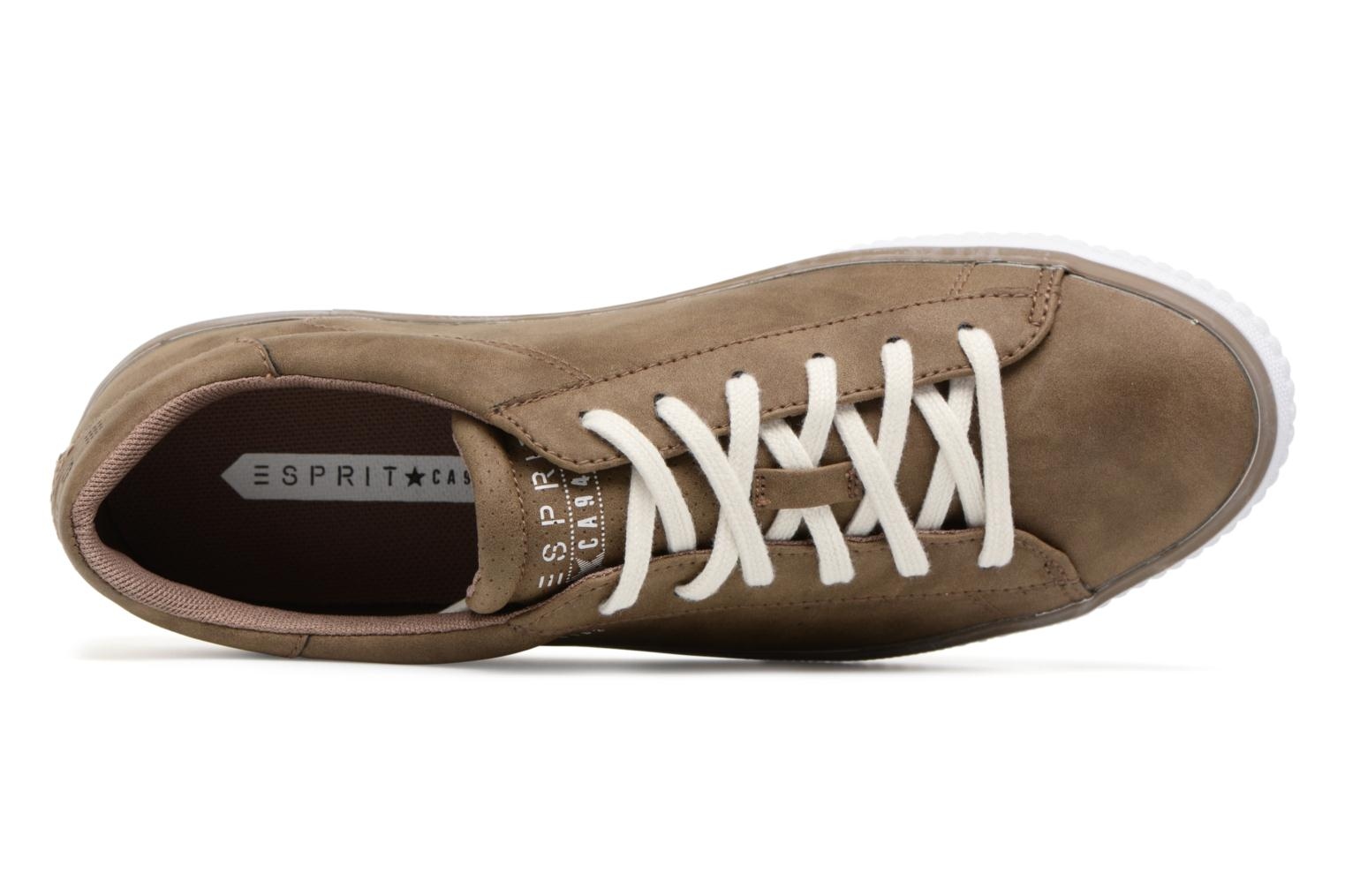 Sneaker Esprit Riata Lace Up braun ansicht von links