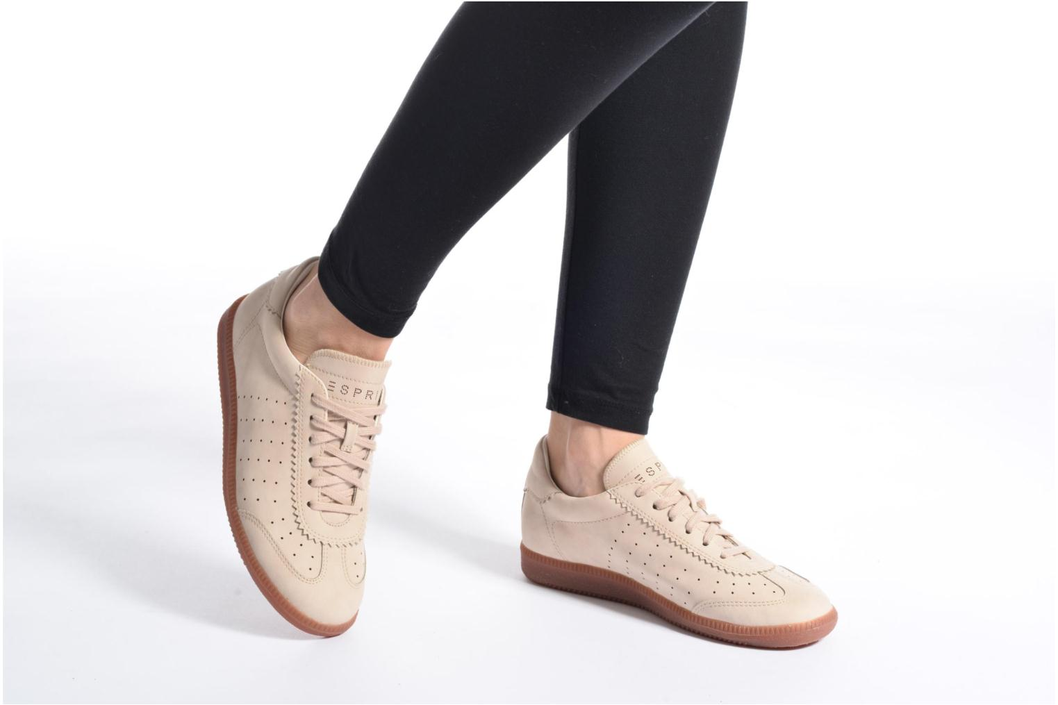 Sneakers Esprit Trainee Lace Up Beige se forneden
