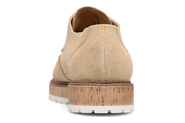 Chaussures à lacets Esprit Crissy Lace Up Beige vue droite