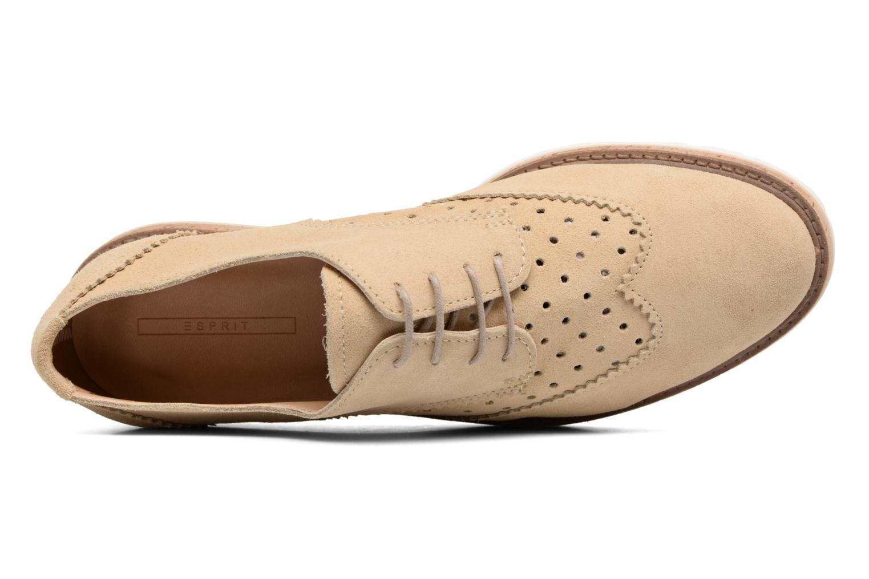 Chaussures à lacets Esprit Crissy Lace Up Beige vue gauche