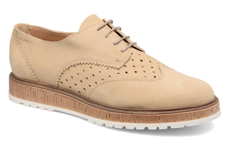 Snøresko Esprit Crissy Lace Up Beige detaljeret billede af skoene