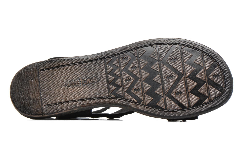 Sandales et nu-pieds Minnetonka Tangier Noir vue haut