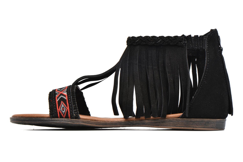 Sandalen Minnetonka Morocco schwarz ansicht von vorne
