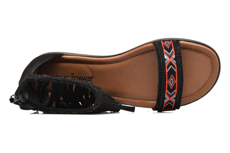 Sandalen Minnetonka Morocco schwarz ansicht von links