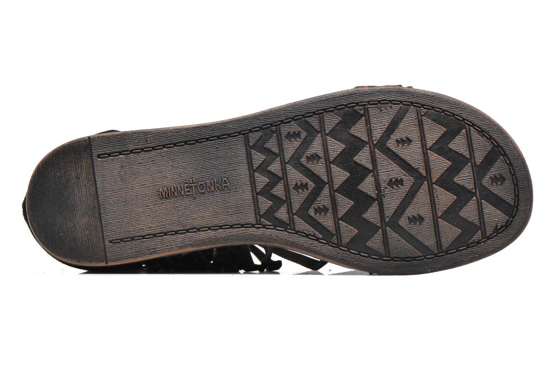 Sandalen Minnetonka Morocco schwarz ansicht von oben