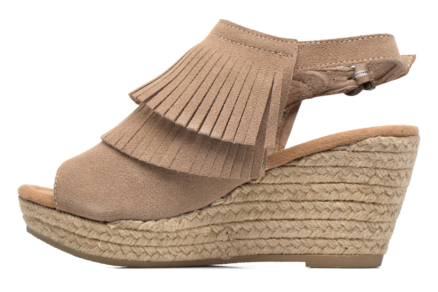 Sandalias Minnetonka Ashley Beige vista de frente