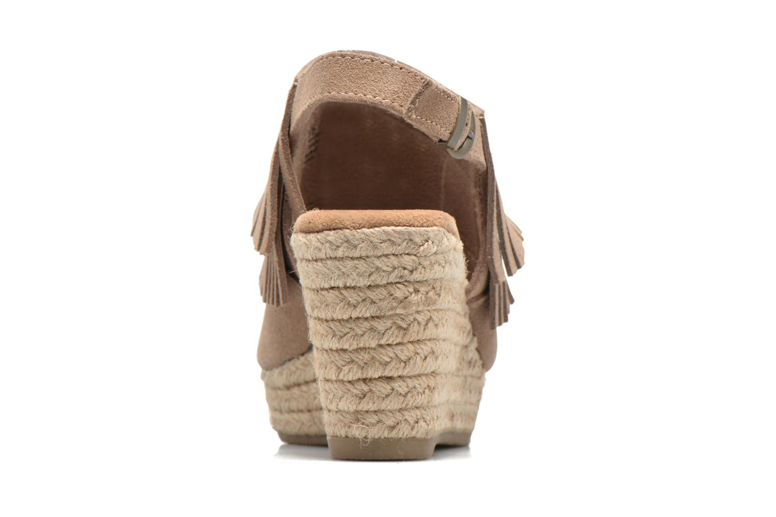Sandalias Minnetonka Ashley Beige vista lateral derecha