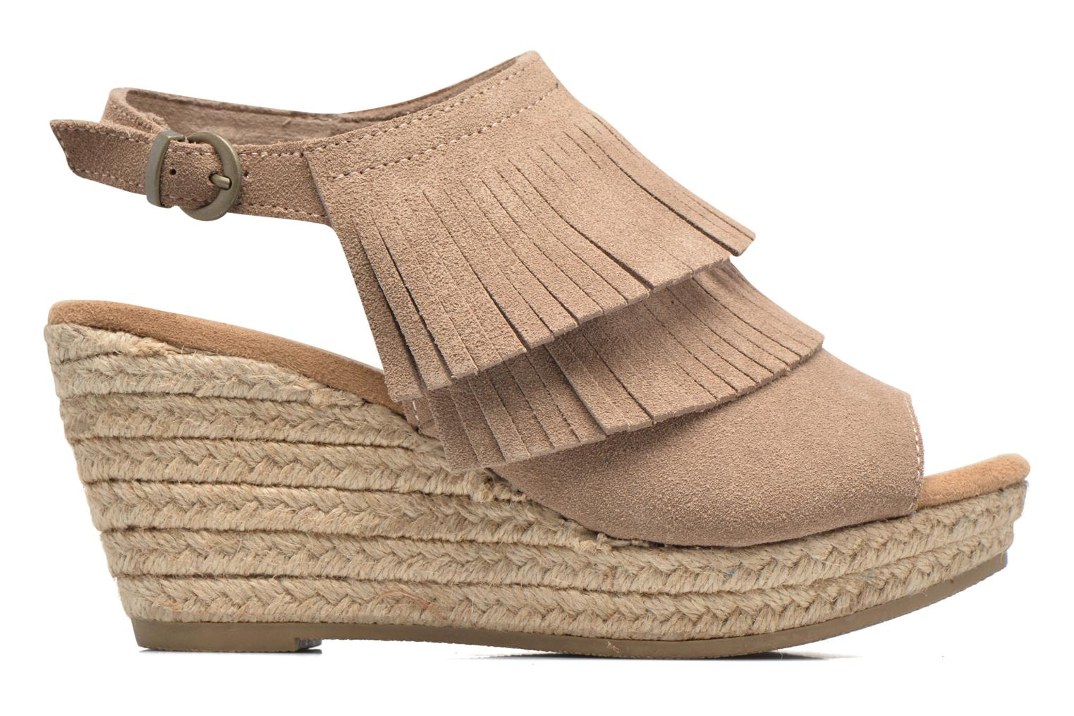 Sandalias Minnetonka Ashley Beige vistra trasera