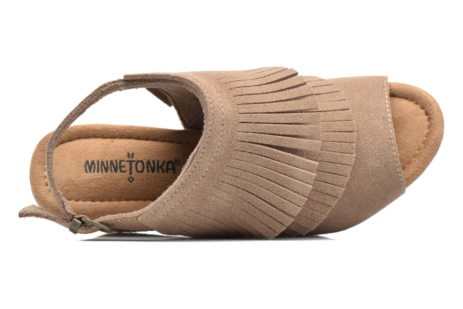 Sandalias Minnetonka Ashley Beige vista lateral izquierda