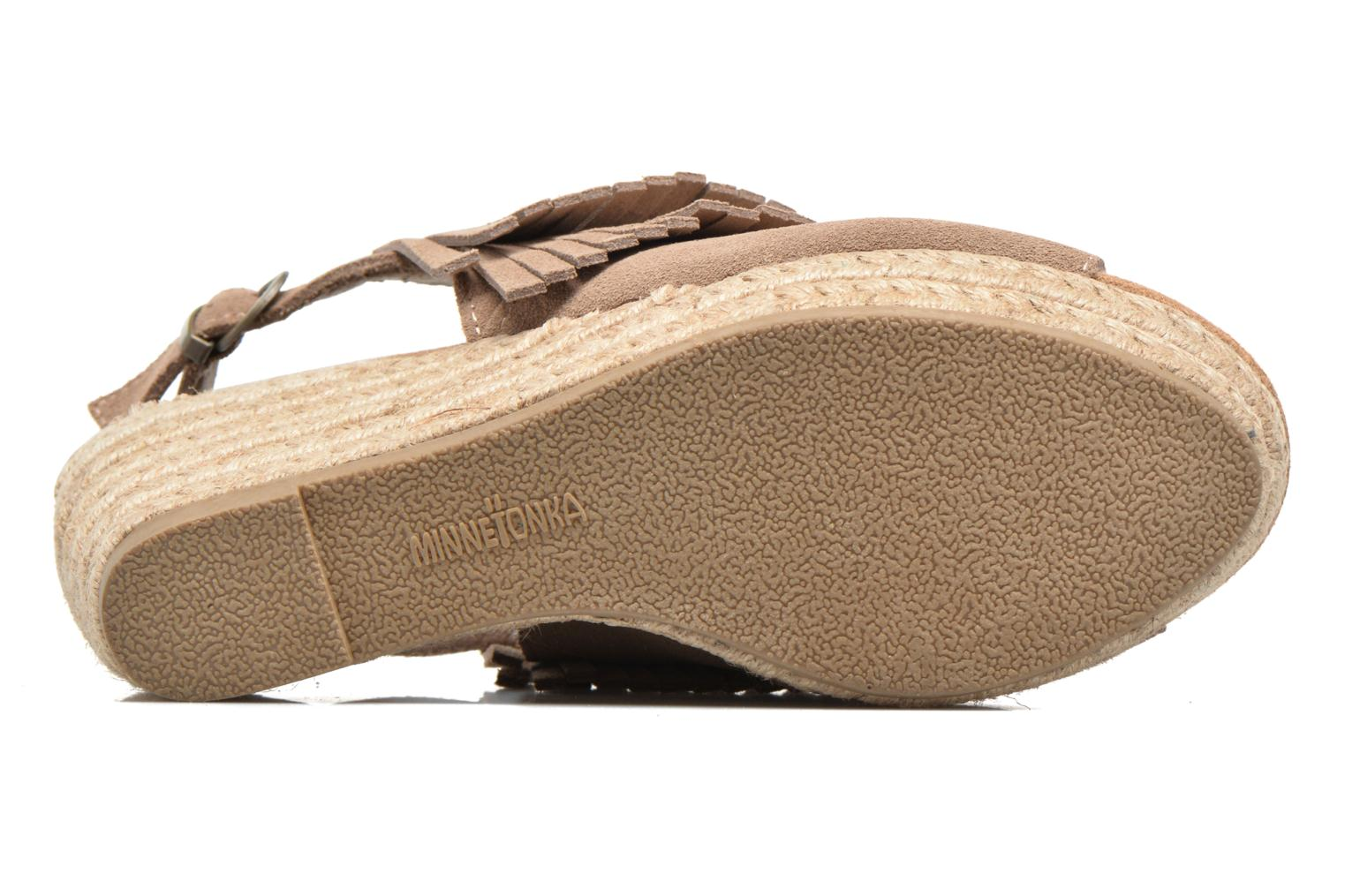 Sandalias Minnetonka Ashley Beige vista de arriba