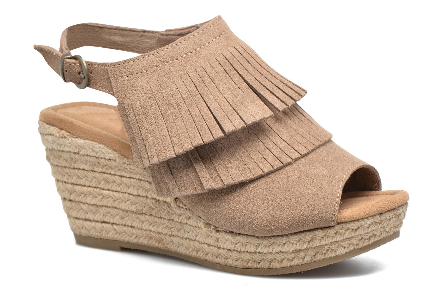 Sandalias Minnetonka Ashley Beige vista de detalle / par