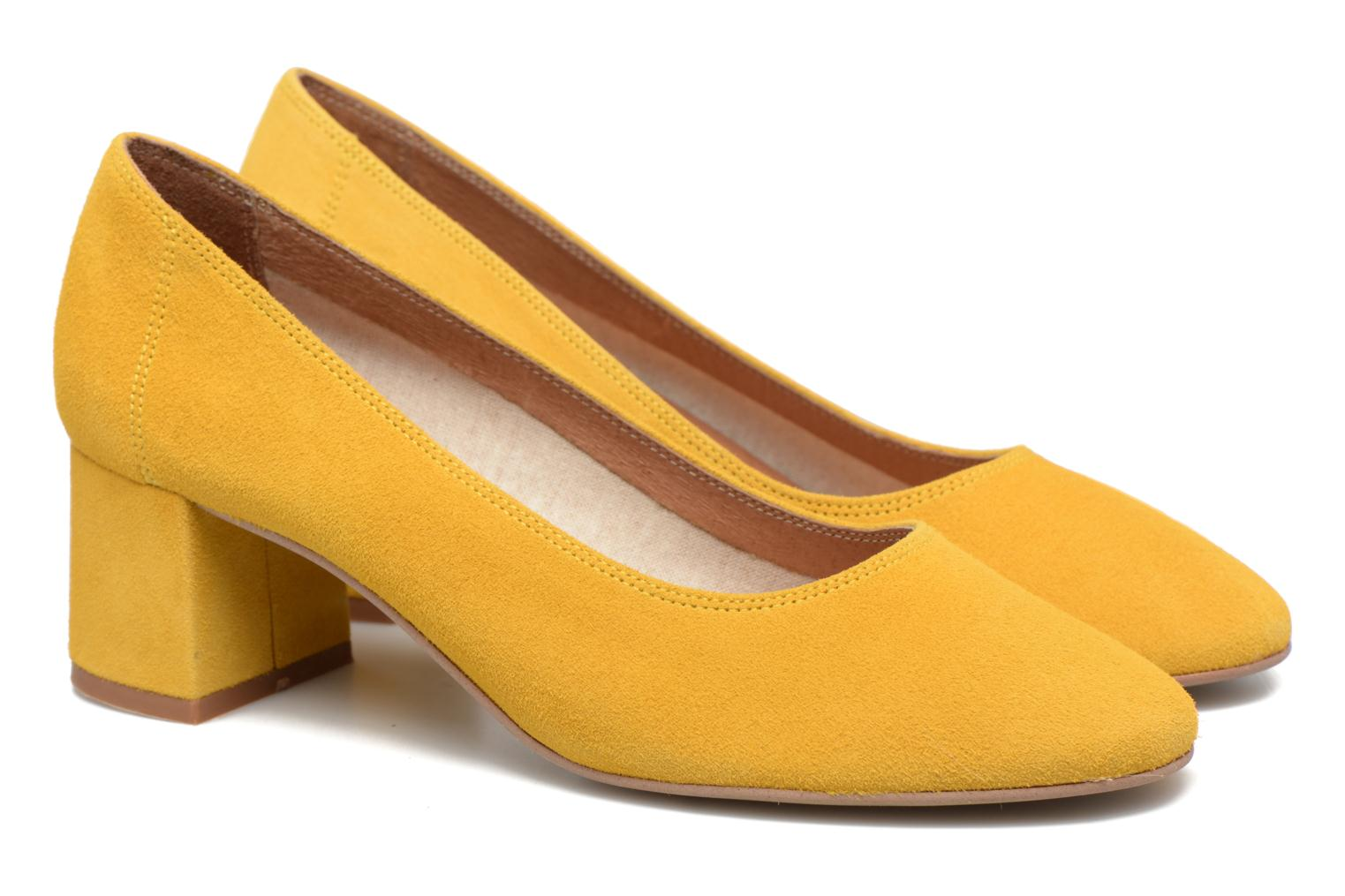 High heels Made by SARENZA Busy Girl Escarpins #4 Yellow back view