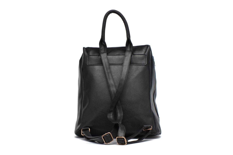 Sacs à dos Dorothy Perkins Foldover Backpack Noir vue face