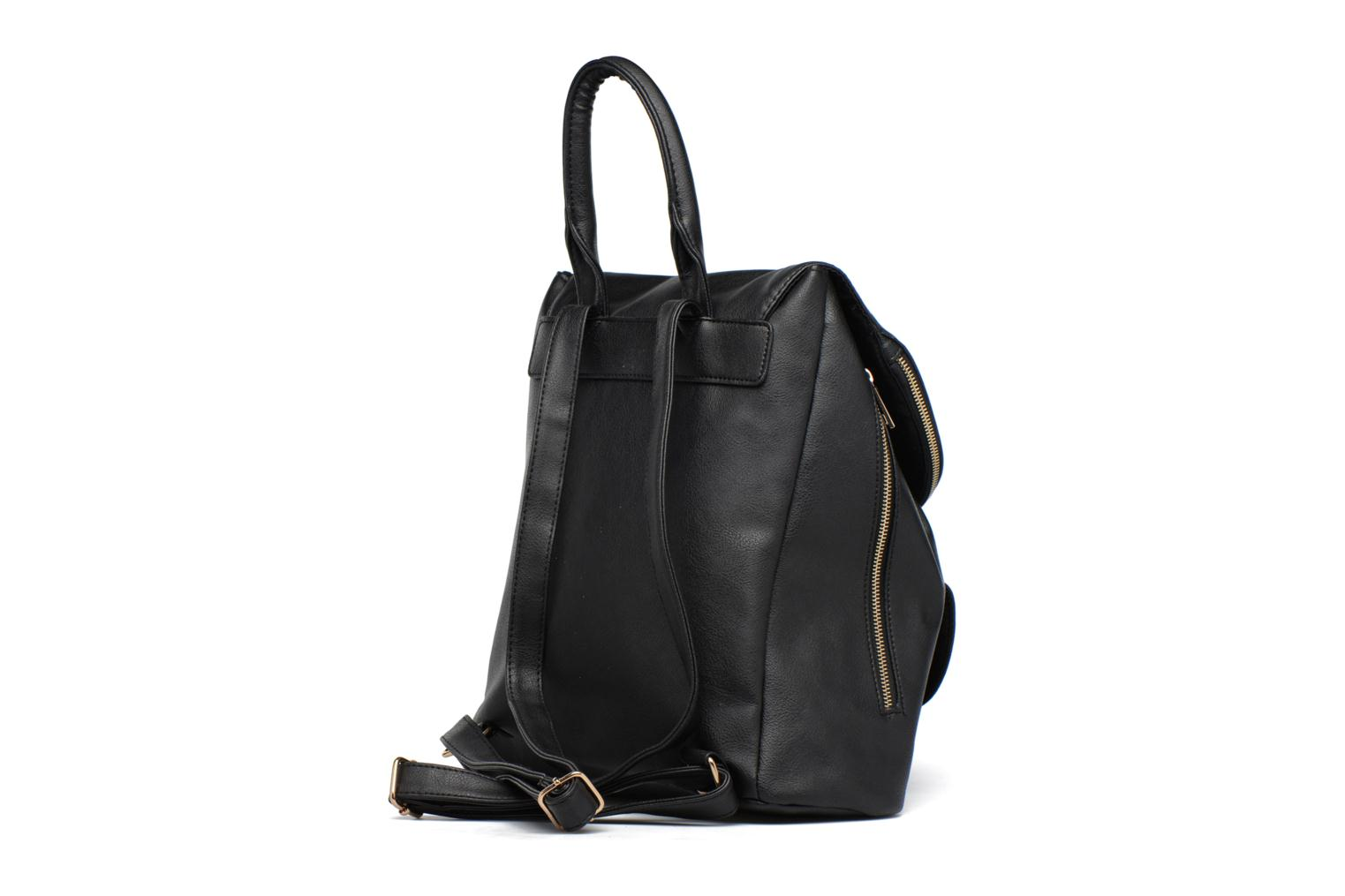 Foldover Backpack Black