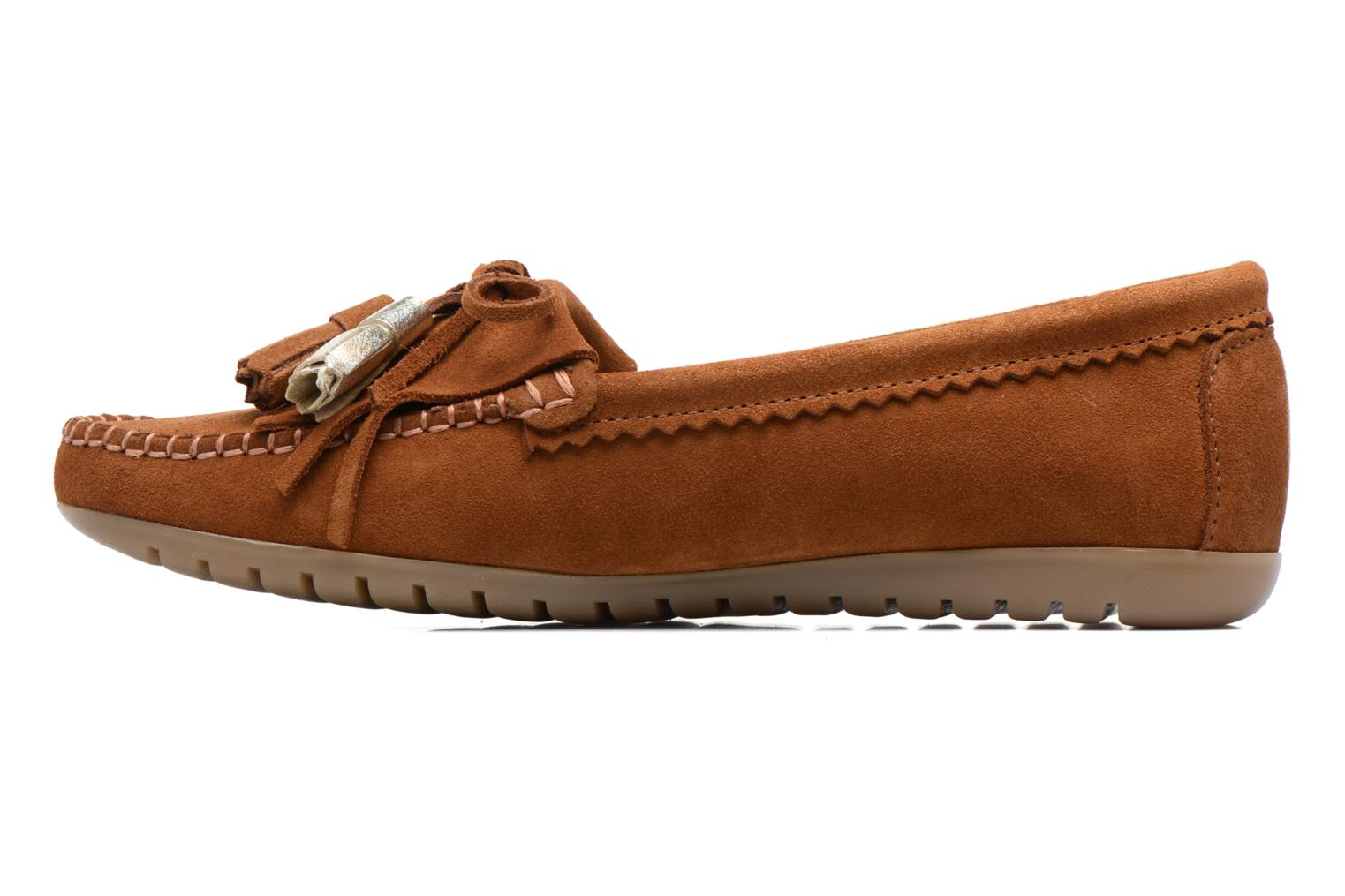Loafers Georgia Rose Retoumi Brown front view