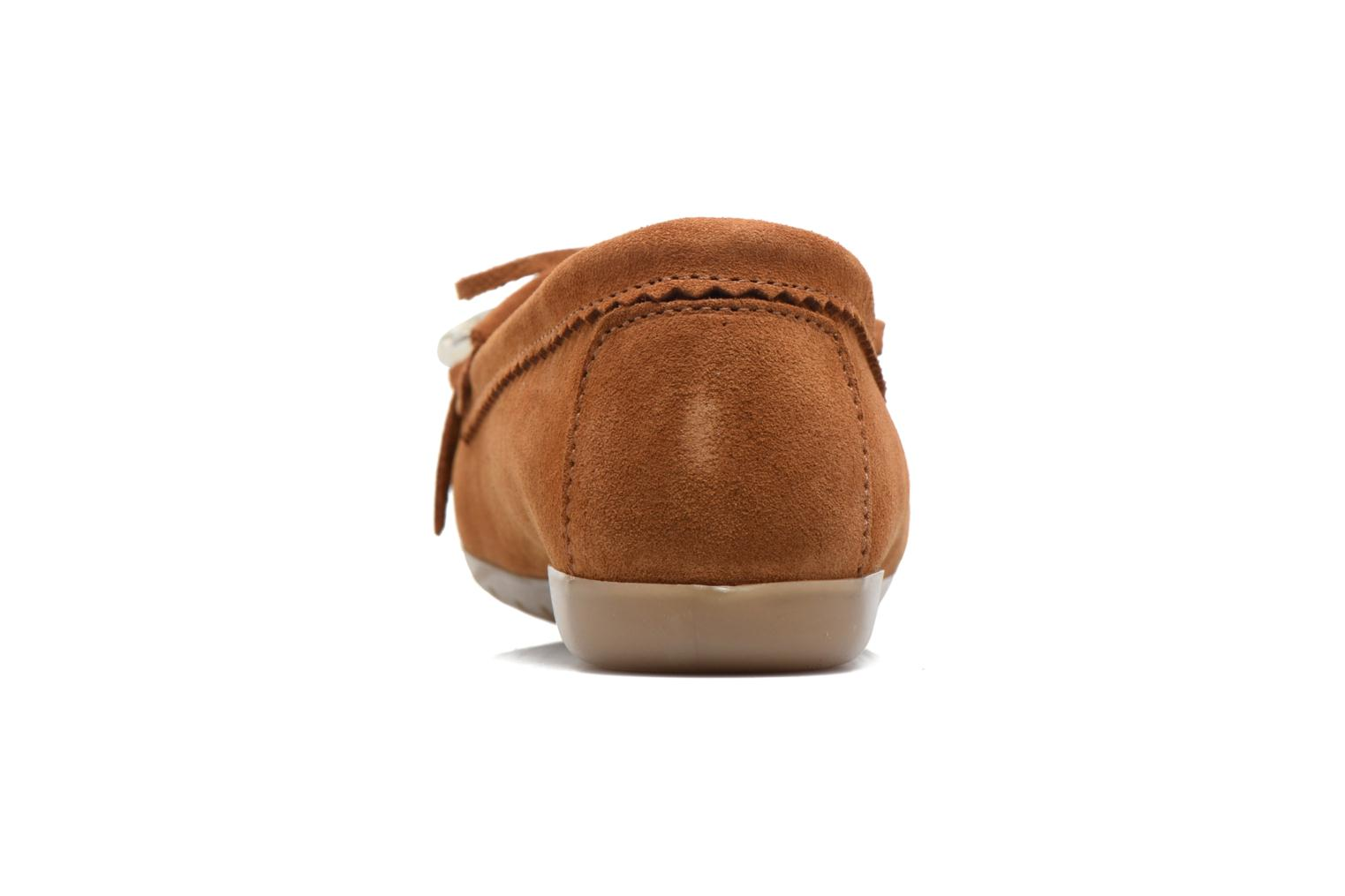 Loafers Georgia Rose Retoumi Brown view from the right
