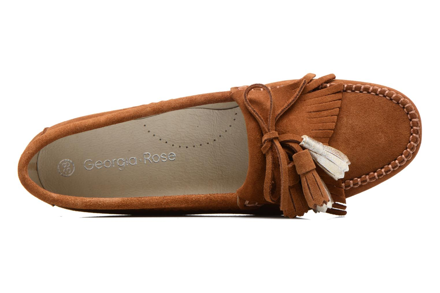 Loafers Georgia Rose Retoumi Brown view from the left